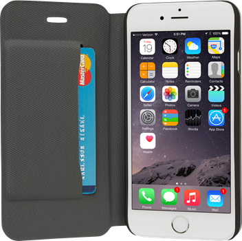 iZound Slim Wallet iPhone 6/6S Plus Black