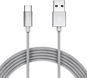 CRAVE Type-C to USB 0,9m Silver