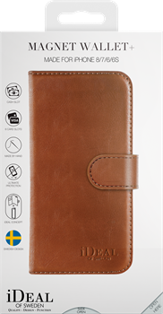 iDeal of Sweden Magnet Wallet+ iPhone 6/6S/7/8/SE Brown