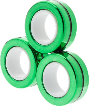 Magnetic Rings Chrome Green