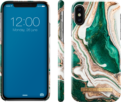 iDeal of Sweden Fashion Case iPhone X/XS Golden Jade Marble