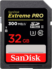SanDisk Extreme Pro SDHC UHS-II 32GB 300MB/S