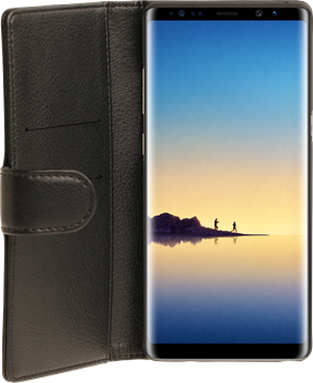 iZound Leather Wallet Case Samsung Galaxy Note 8 Black