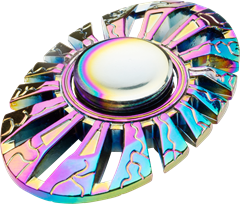 Fidget Spinner Metal Rainbow Turbine