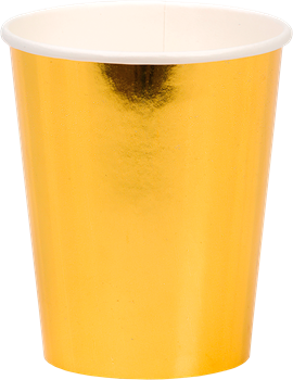 Party Paper Cup Gold 8-Pack