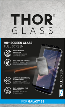 Thor Curved Glass Screen Protector Samsung Galaxy S9 Black