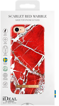 iDeal of Sweden Fashion Case iPhone 6/6S/7/8 Scarlet Red Marble