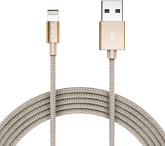 CRAVE Lightning to USB 1,2m Gold