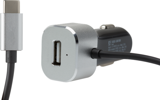 Deltaco USB-C and USB-A Car Charger