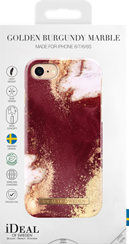 iDeal of Sweden Fashion Case iPhone 6/6S/7/8 Golden Burgundy Marble