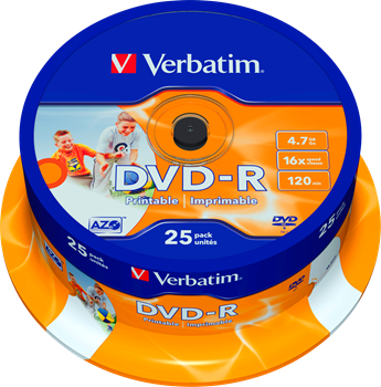 Verbatim DVD-R 25-pack (CakeBox)