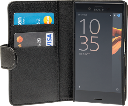 iZound Leather Wallet Case Sony Xperia X Compact Black