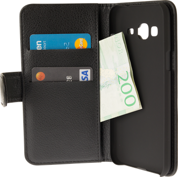 iZound Leather Wallet Case Samsung Galaxy J3 2016 SM-J320F Black