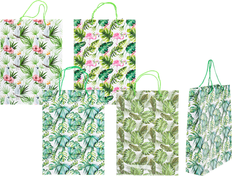 Gift bag Tropical 25x8,5x34x5cm