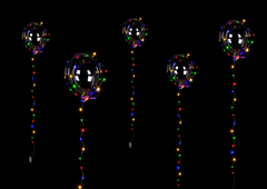 Party Foil Balloon With Lightchain Colourful LED
