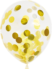 Balloons Confetti Gold 6-pack