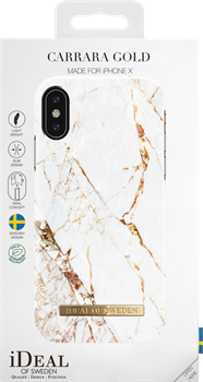 iDeal of Sweden Fashion Case iPhone X/XS Carrara Gold