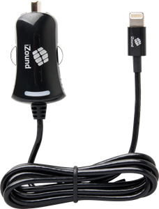 iZound Lightning Car Charger 2,4 A Black