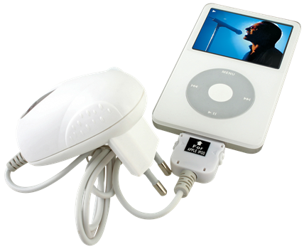 X-Power iPod/iPhone reseladdare vit
