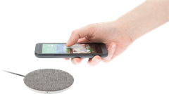iZound Fast Wireless Qi Charger 10 W Grey Fabric