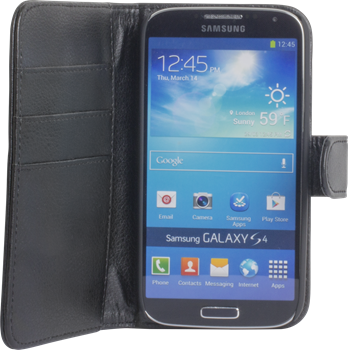 iZound Leather Wallet Case Samsung Galaxy S4 Black