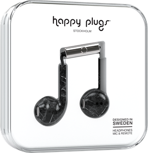 Happy Plugs Earbud Plus Black Marble