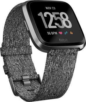 Fitbit Versa Special Edition Charcoal Woven