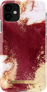 iDeal of Sweden Fashion Case iPhone XR/11 Golden Burgundy Marble