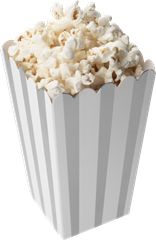 Popcorn Box 10-pack Silver