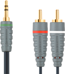 High-End 3,5mm kabel till 2 x RCA - 1m